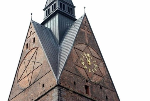 kostel pentagram, hexagram